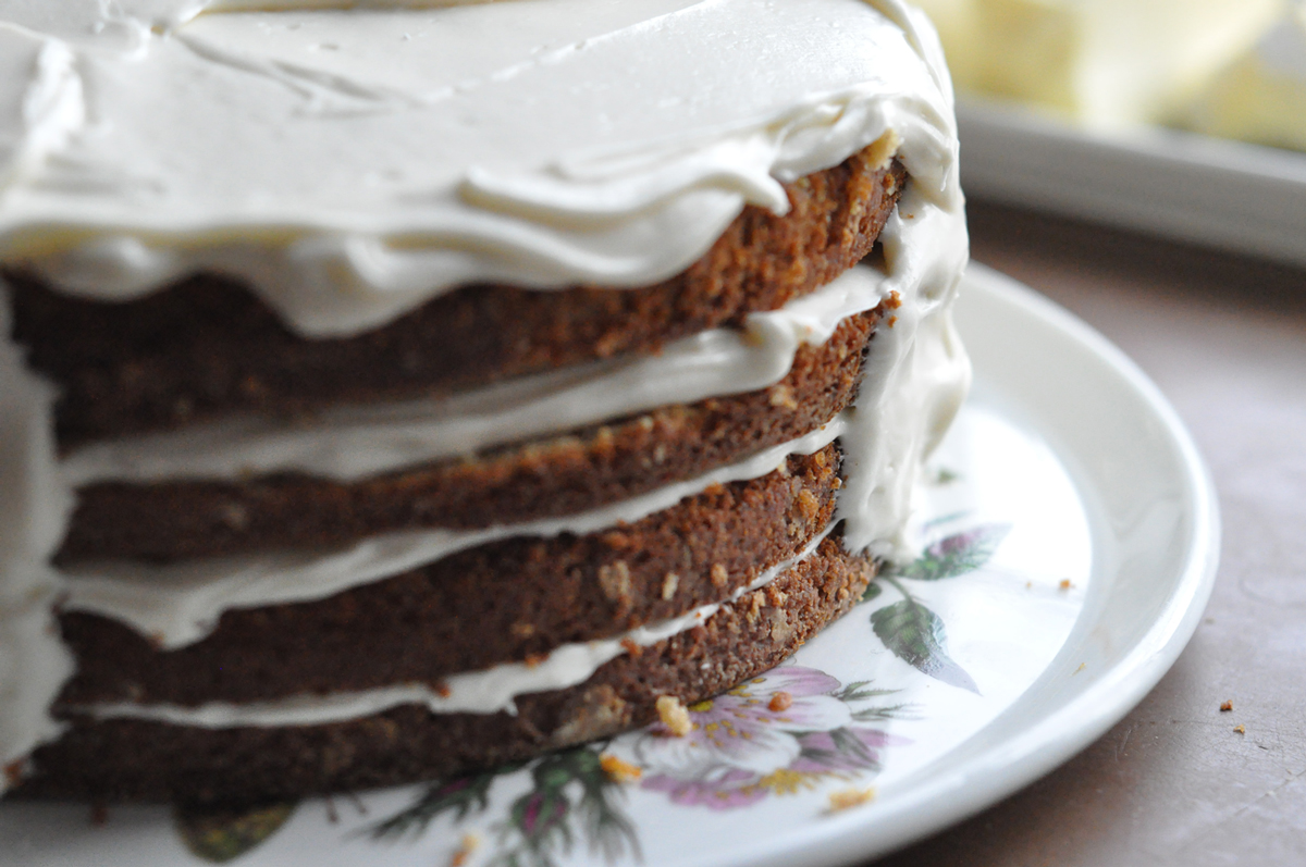... Egg Nog Cake with Vintage Bourbon Cream Frosting | Life in the Garden